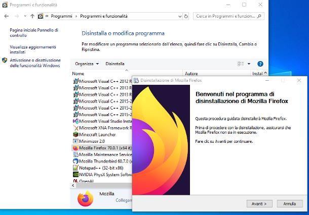 Come tornare alla versione precedente di Firefox su PC