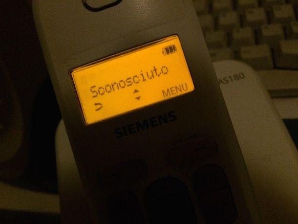 Chiamata anonima fisso