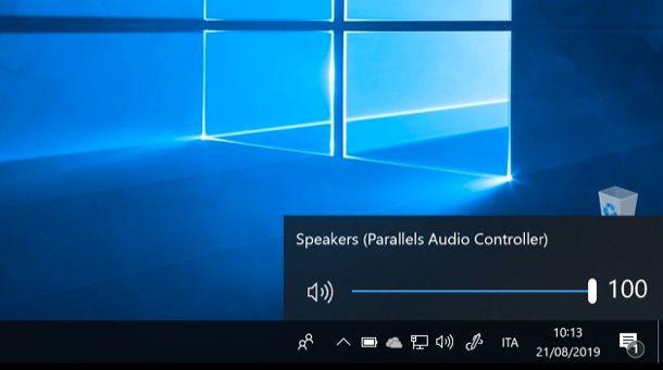 Alzare il volume su Windows 10