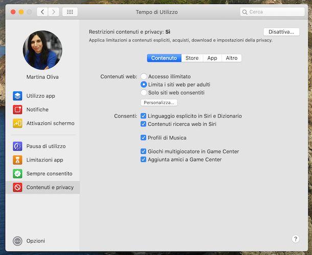 Tempo di utilizzo di macOS