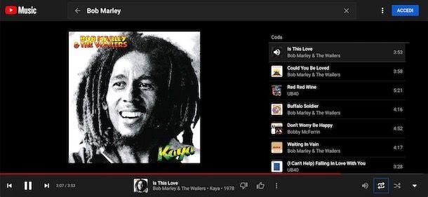 Ripetere video su YouTube Music