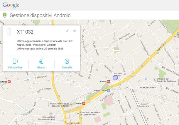 Bloccare cellulare Android