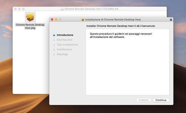 Installazione Chrome Remote Desktop su macOS