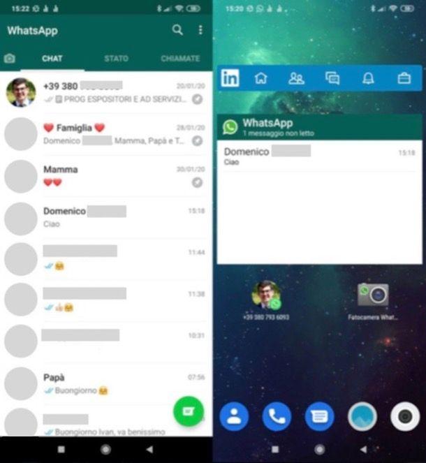 Widget social Android