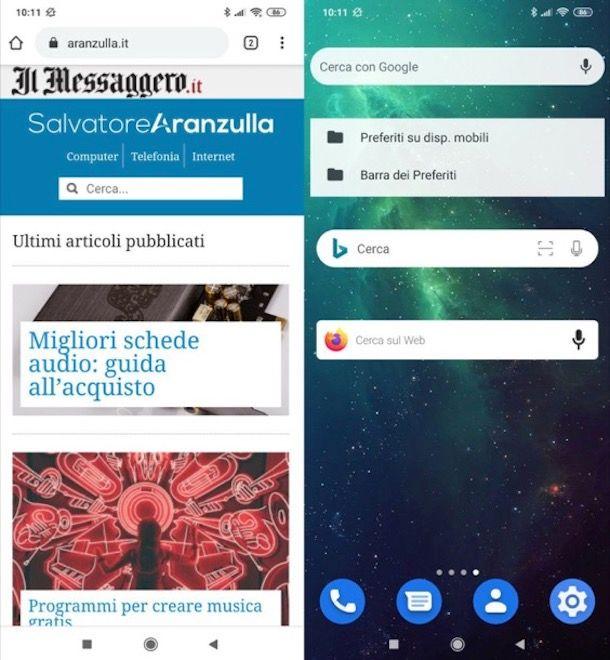 Widget Internet Android