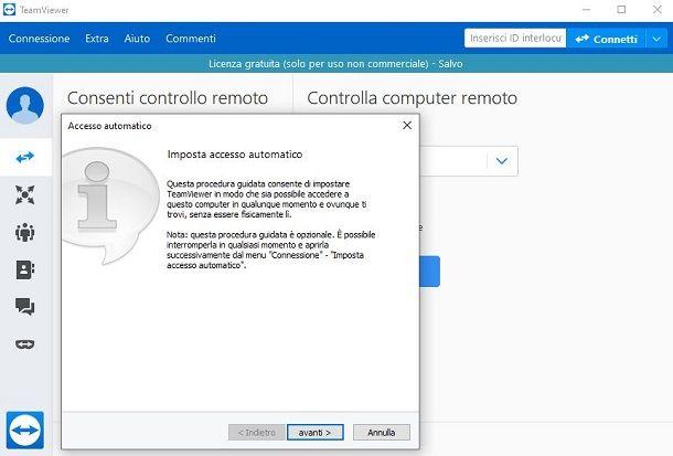 Configurazione di TeamViewer