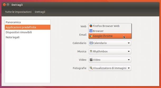 Come cambiare browser predefinito