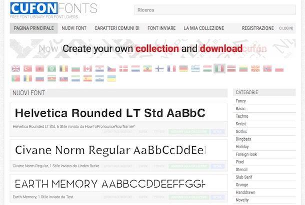 Come scaricare nuovi font