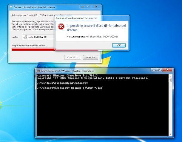 Come creare disco di ripristino Windows 7