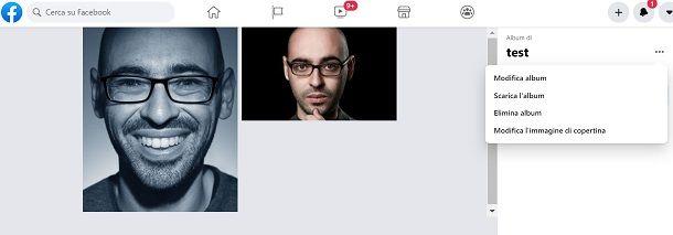 cancellare album pagina facebook