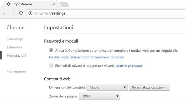 Come eliminare salvataggio password