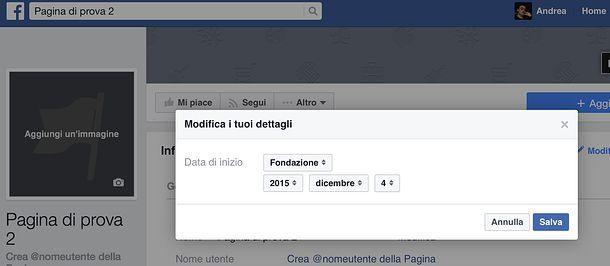 Come cambiare data di nascita su Facebook