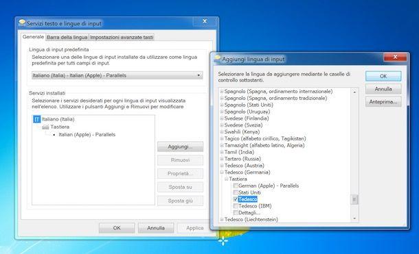 Come cambiare tastiera Windows