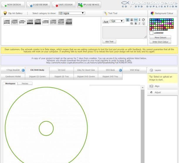 Come etichettare CD online