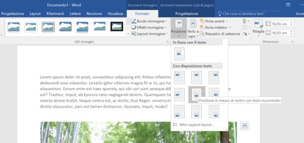 Modifica immagine dell'intestazione di Word