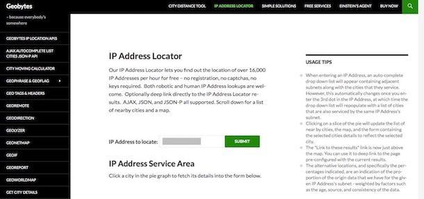 Come identificare un indirizzo IP