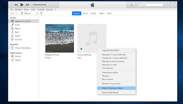 Come scaricare copertine album iTunes