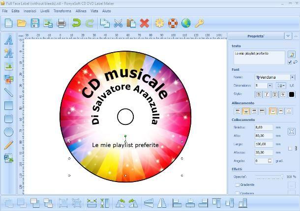 Come etichettare un CD su computer