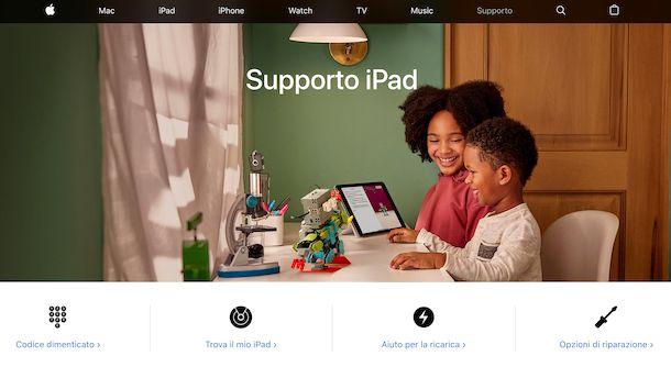 Supporto Apple iPad