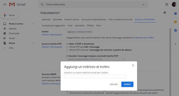 Come inoltrare un'email in automatico