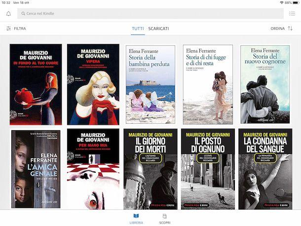 eBook Kindle su iPad