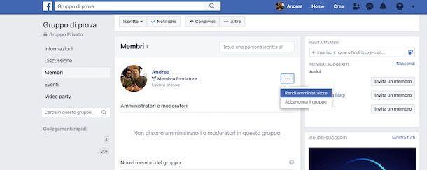 Come chiudere un gruppo su Facebook senza amministratori