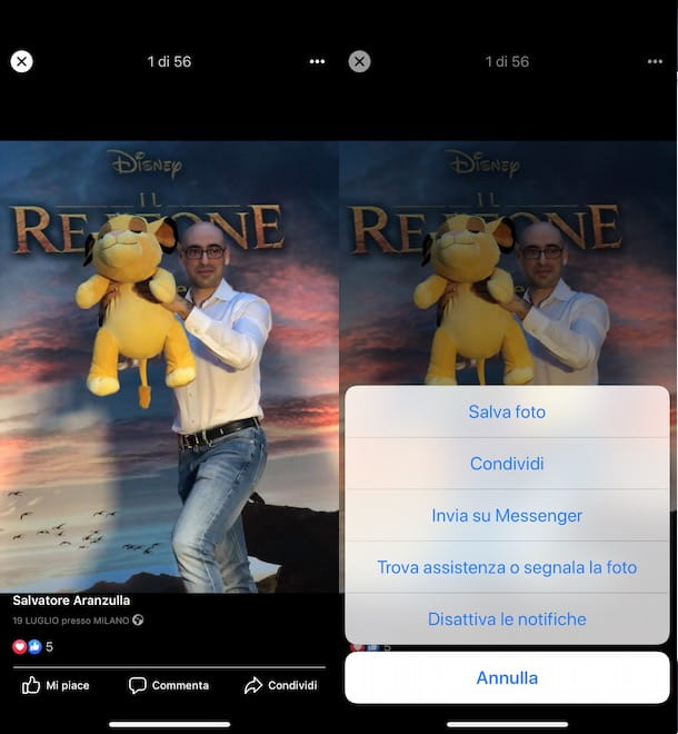 Come scaricare foto da Facebook su iPhone