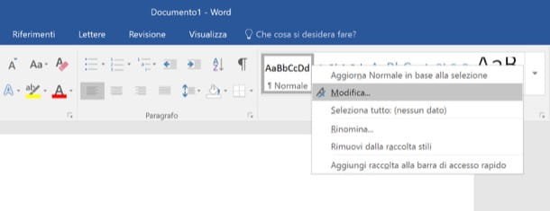 Come cambiare interlinea Word