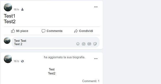 Come andare a capo nei commenti su Facebook
