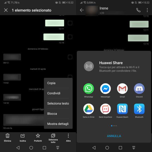 Inoltrare SMS su WhatsApp da Android