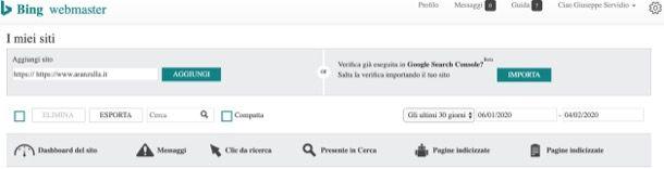 Come segnalare un sito a Bing