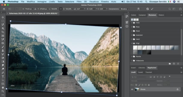Raddrizzare foto con Photoshop su PC
