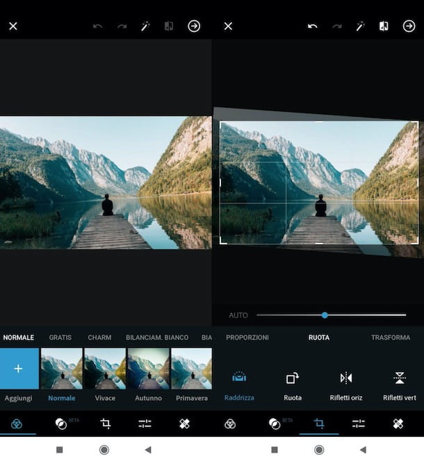 Raddrizzare foto con Photoshop su smartphone e tablet