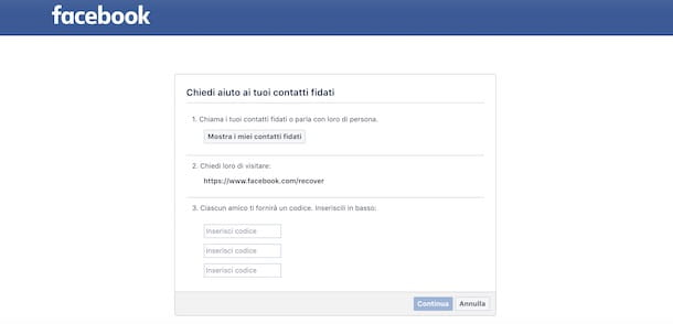 Come recuperare la password di Facebook senza email e numero
