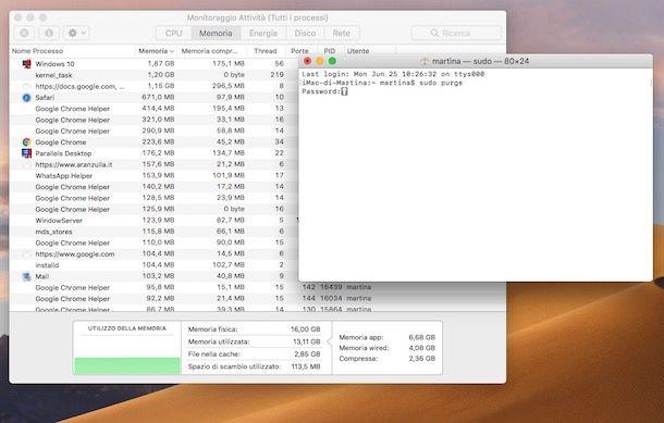Come liberare memoria RAM