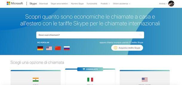 Come telefonare con Skype all'estero