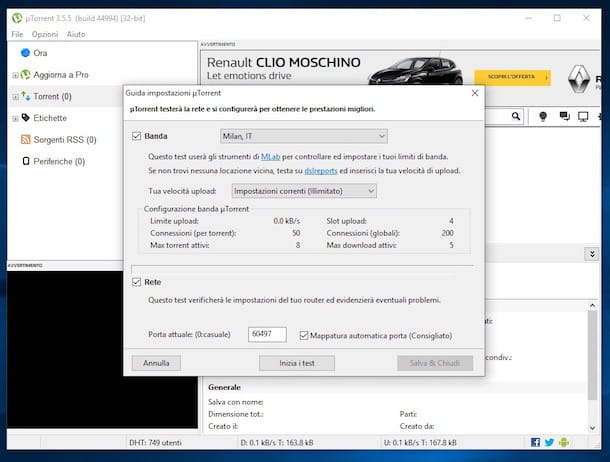 Come velocizzare i download su uTorrent