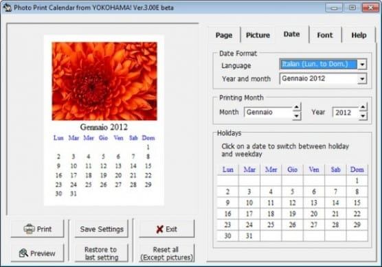 Photography Calendar Printing : Programmi per fare calendari salvatore aranzulla