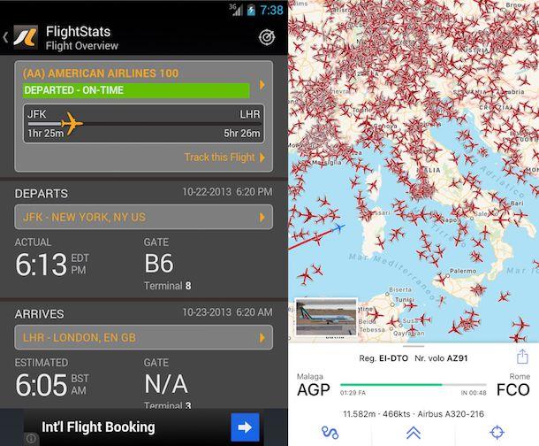 Come seguire un volo in tempo reale