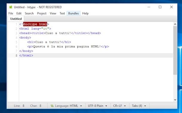 Programmi per HTML