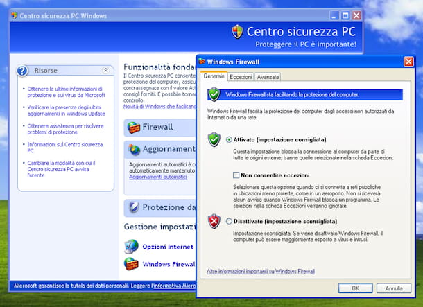 Firewall di Windows XP