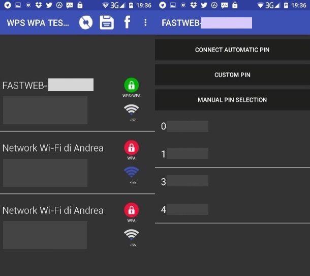 Come collegarsi ad una rete wireless protetta