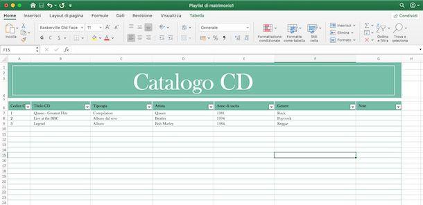 Programmi per catalogare CD musicali