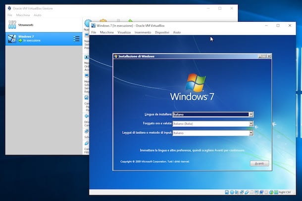 VirtualBox Windows 7