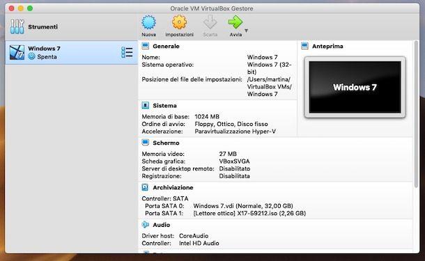 Come virtualizzare Windows 7