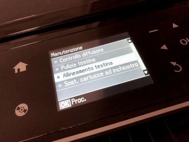 Come allineare le cartucce della stampante