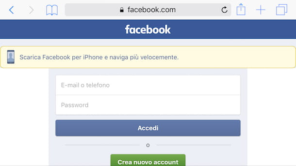 Come riabilitare l'account di Facebook