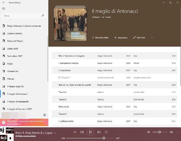 Software per ordinare la musica