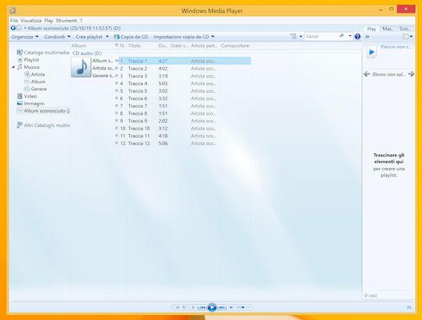 Windows Media Player ripping CD