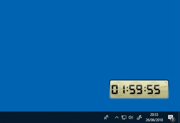 Come spegnere il PC con il timer